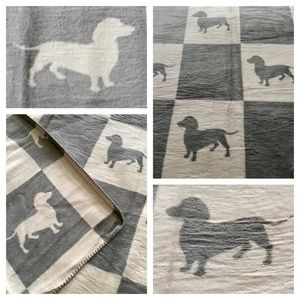 INUP Home Fine Linens Gray Dachshund Reverse Throw